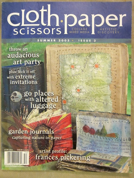 Cloth Paper Scissors Magazine Summer 2005 Art By Marciabeckett