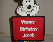 Mickey or Minnie Cake Topper- You Choose Character- Mickey Mouse Cake Topper, Minnie Mouse Cake Topper