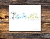 Premade Business Logo and Watermark - Daisy Falling Petal Photography Studio Logo - Customize