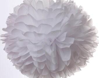 White 1 Large Tissue Paper Pom Poms