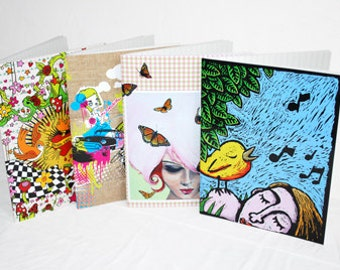 Set of 4 notebooks, color covers