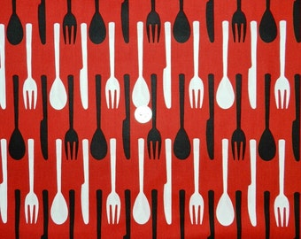 Cutlery by Hoodie - Fabric By The Half Yard 18 inches x 44 inches
