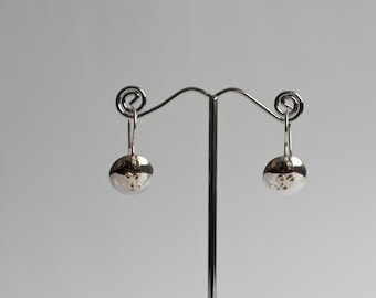 Hand made silver earrings with 9 carat gold decoration