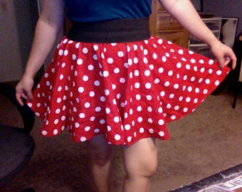Custom sized Child, Teen and Adult Minnie Mouse skirts