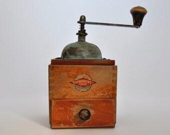 SALE Vintage German coffee grinder by Leinbrock's Ideal.
