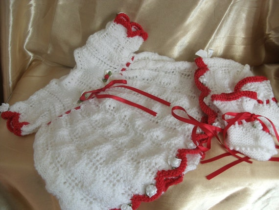 Baby christmas dresses 0 3 months knitted baby christmas dress