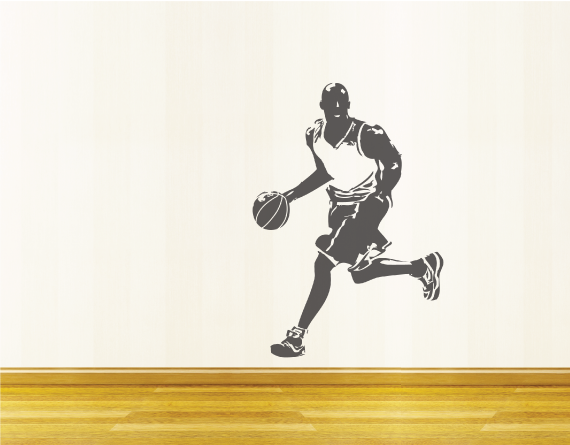 items similar to wall decal sports basketball player wall decal sport wall decal sport wall sticker basket ball gift for boy boy bedroom decal on etsy