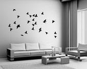 Flock of Birds Wall Decal Vinyl Sticker Dining Bedroom Living Room