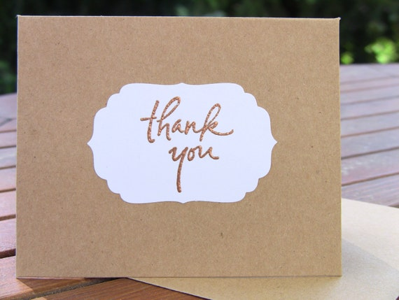 5 Wedding Thank You Cards, Wedding Thank Yous, Bridal Shower Thank Yous, General Thank Yous, Customize Any Color