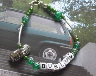 Green Dubluv VW Beetle Bracelet