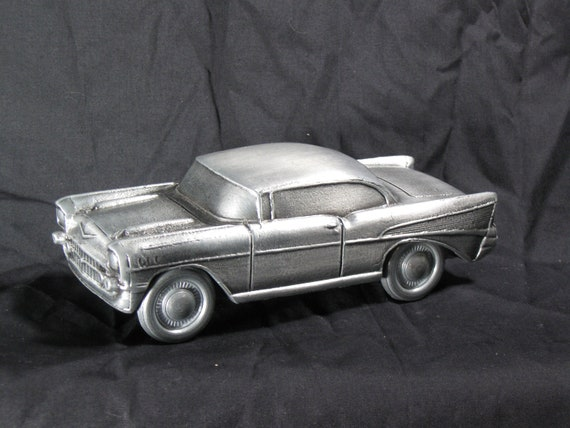 Pewter Banthrico 57 Chevy coin bank copyright 1974