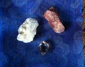 Angel Gate Golden Healer Herkimer Diamond Quartz Crystal with Star Gate Red and White Golden Mica Quartz-Powerful Set