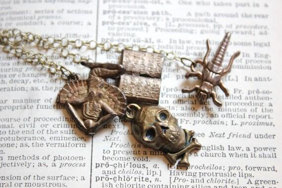 Egyptian Plague Necklace