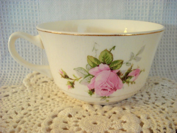 RESERVED for NINA    Vintage Shabby Cottage Chic Cup Pink Roses