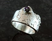 Twinkle Twinkle Little Star, fine silver and gold ring sz 6.25