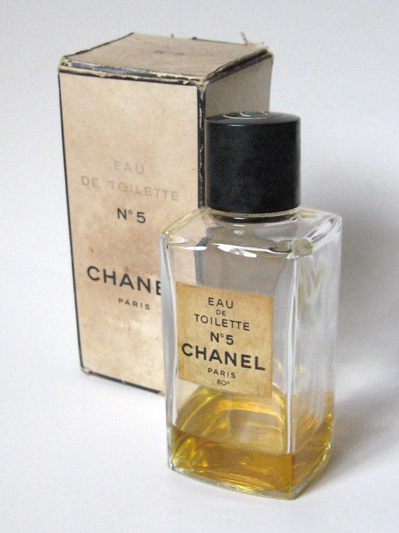 rare vintage 1960s chanel no 5 eau de toilette paris 80o. Black Bedroom Furniture Sets. Home Design Ideas