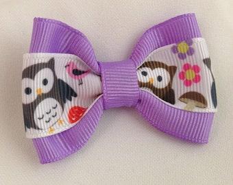 Cutie Owl Hair Bow - 2 inches