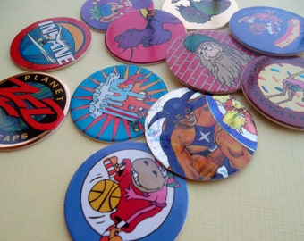 Vintage Character Pogs
