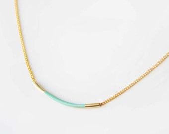 Mint bar necklace
