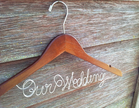 Personalized Wire Hanger for the Bride or Bridesmaid