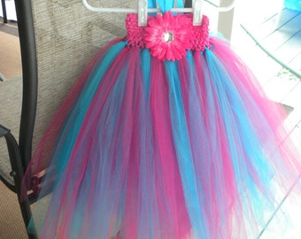 Pink and Blue Empire Tutu Dress 2- 3 1 /2 years old