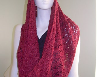 Shimmery Lacy Cowl