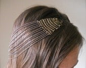 Chainmaille and chain headband, vintage look flapper style head piece.