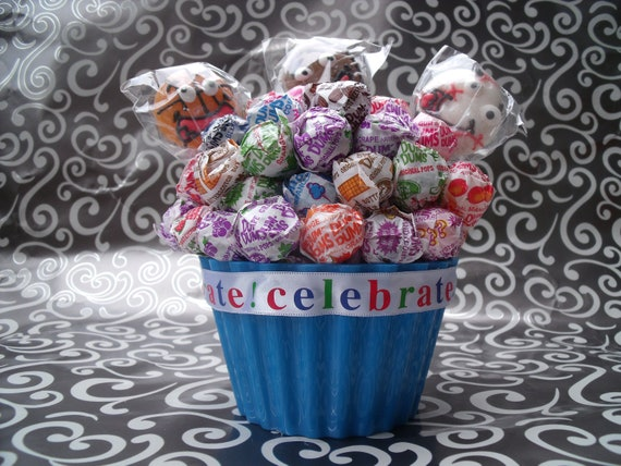 Dum Dum Lollipop Cupcake / Bouquet - Sports Themed
