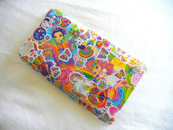 Ipod Touch  itouch 4 4th generation Lisa Frank Phone Case, 90s Vintage Hipster Neon Kawaii.