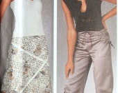 UNCUT 6 EASY Stylish Pants and Asymetrical Bias Skirts Simplicity Sewing Pattern (5256)  Sizes 4 6 8 10