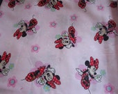 Minnie Mouse pink bows fabric choice as add on car seat straps lovey tag blanket seat strap covers