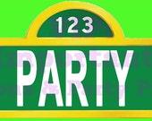 Sesame Street Birthday Party Door Sign - Digital - Special Price