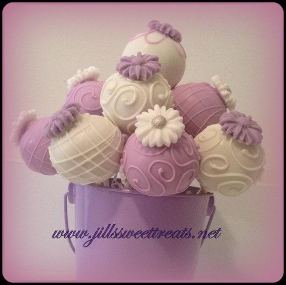 Lavender Flower Love Cake Pops