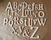 Sale- Unfinished Wooden Alphabet Set - Wooden Letter- Alphabet Wall - ABC Wall-
