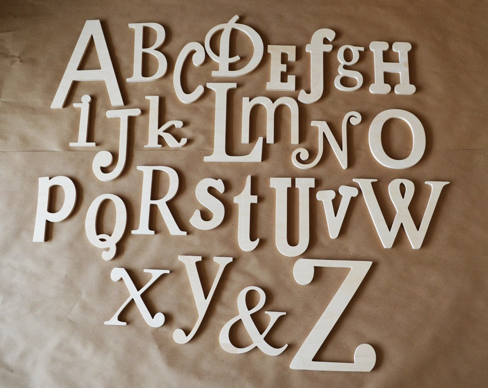 Sale unfinished wooden alphabet set wooden letter alphabet for Abc wooden wall letters