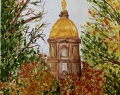 11x14 Notre Dame Watercolor Painting Prints