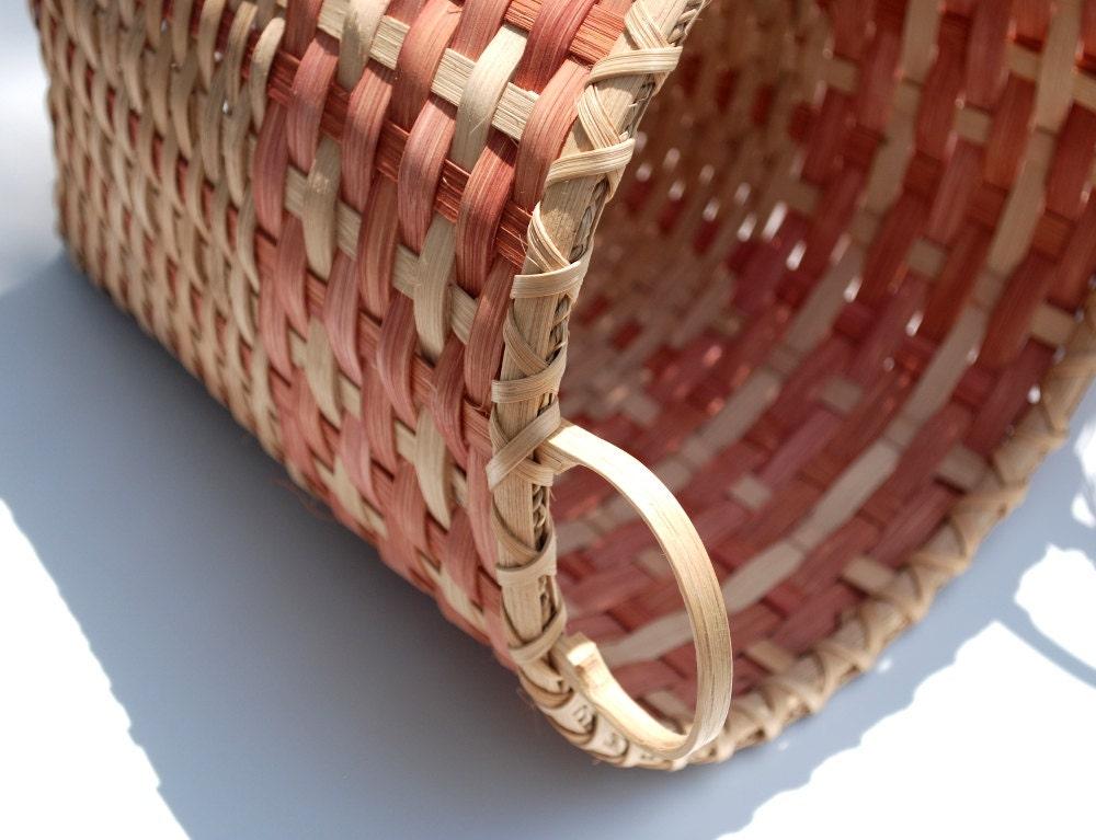 Handmade Basket Tutorial : Handmade cross pattern basket for storage