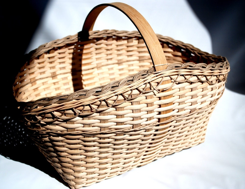 Handmade Market Baskets : Connie s farmers market basket handmade for summer flowers