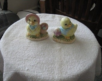 Easter Ceramic Fgurines His & Her