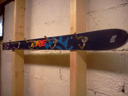 Upcycled Ski Coat Rack By Gearsupdesigns On Etsy
