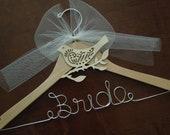 Barn Wedding Hanger, Bridal Hanger, Rustic Wedding Hanger, Bridal Shower, Bride