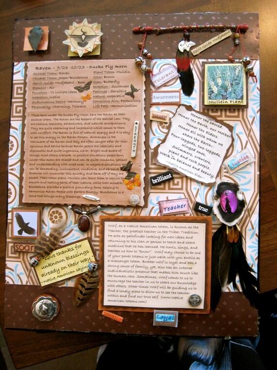 Custom made Large  Medicine Wheel Joy Box is a  mixed media shadow box inspired by Native American Birth Totems