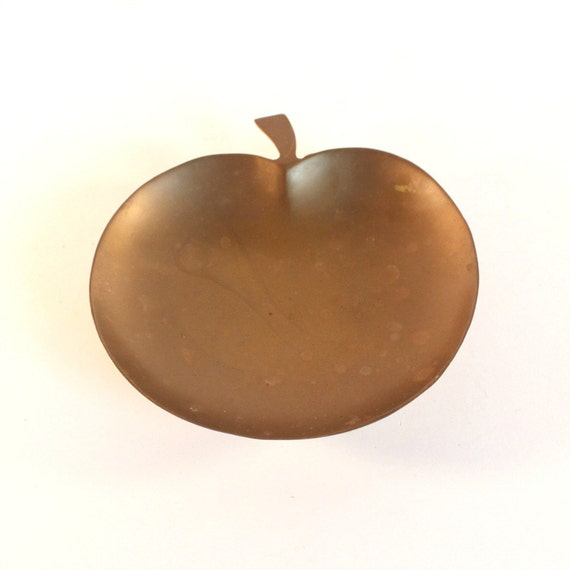 Vintage brass apple dish