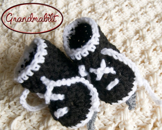 HOCKEY SKATE BOOTIES Baby Soft Crocheted Ice Skates by ...