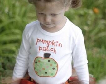 Personalized Pumpkin Patch Polka Dot Shirt - Tutu Available