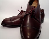 Vintage mens sixties leather florsheim shoes. NOS new old stock