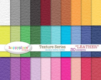 Digital Rainbow LEATHER Texture Digital Papers - Scrapbooking, Background, Invitation Supplies. Commercial use ok.