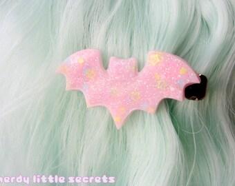 Fairy Kei Pastel Bat Hair Clip