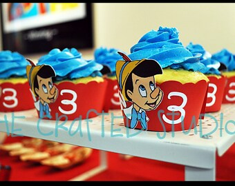 Pinocchio Themed Cupcake Wrappers