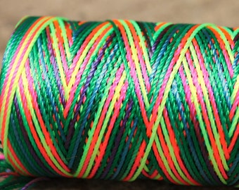 neon greens, and rainbow: Unwaxed nylon cord , 10 meters for macramé, Jewelry making, etc.